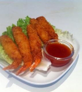 crevettes fries x5