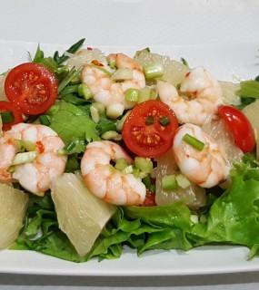 Salade pamplemousse crevettes